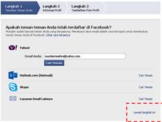 Langkah pendaftaran akun facebook