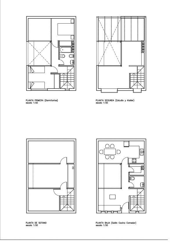 Alejandro pastore arquitecto vivienda unifamiliar entre - Vivienda unifamiliar entre medianeras ...
