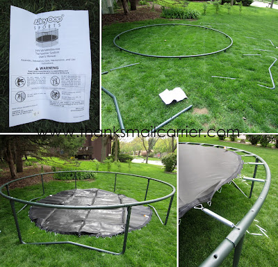 AlleyOop VariableBounce Trampoline assembly