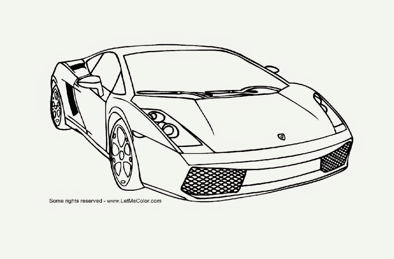 Lambhini Car Coloring Pages