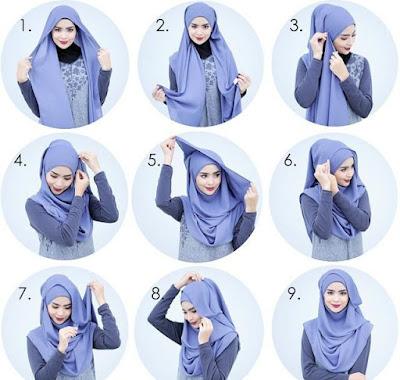 Cara Memakai Hijab Pashmina Terkini