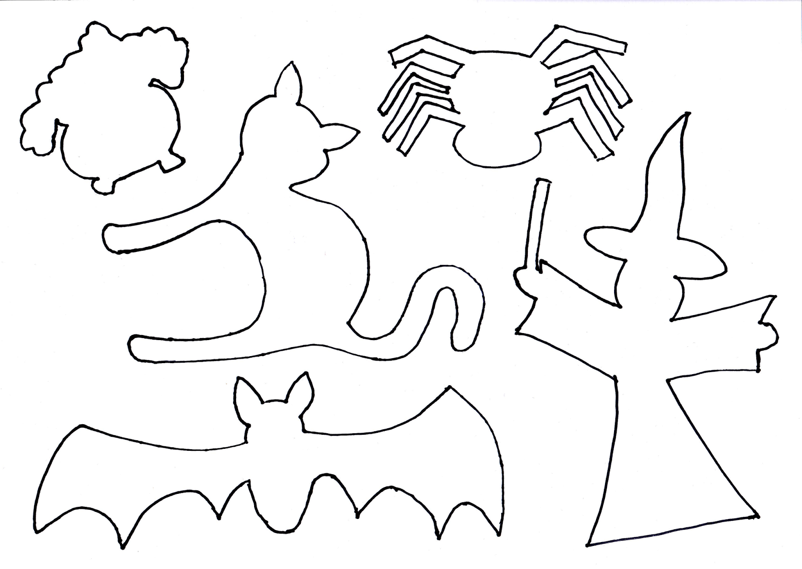 Трафареты картинок для вырезания из бумаги