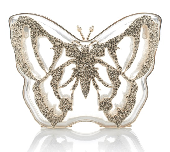 Valentino Butterfly Minaudiere Perspex Clutch