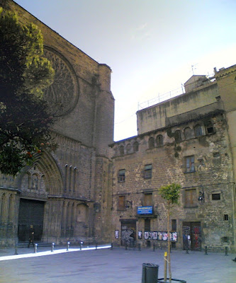 Gothic church of Santa Maria del Pi in Barcelona