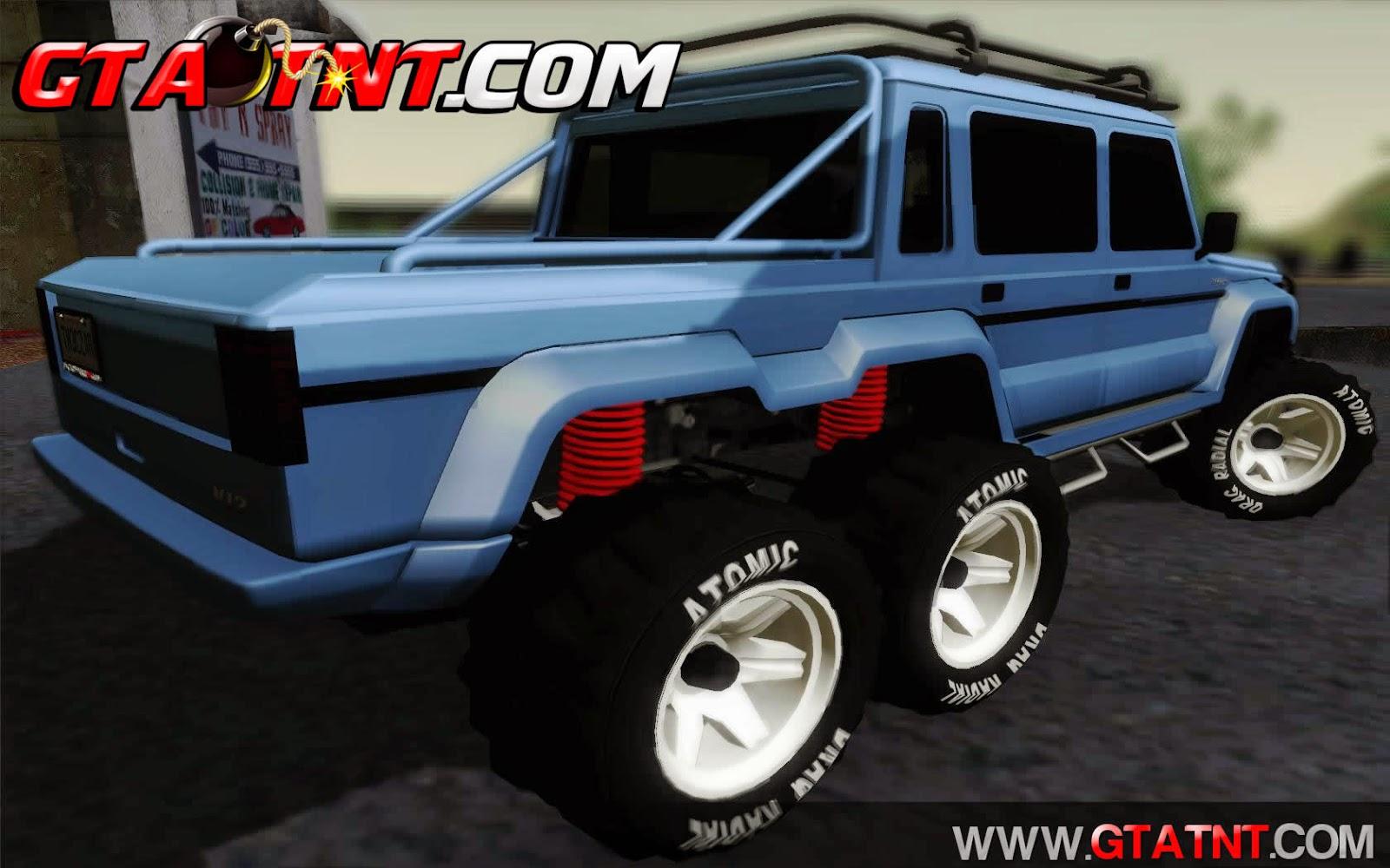 Benefactor Dubsta 6x6 Convertido do GTA V para GTA San Andreas