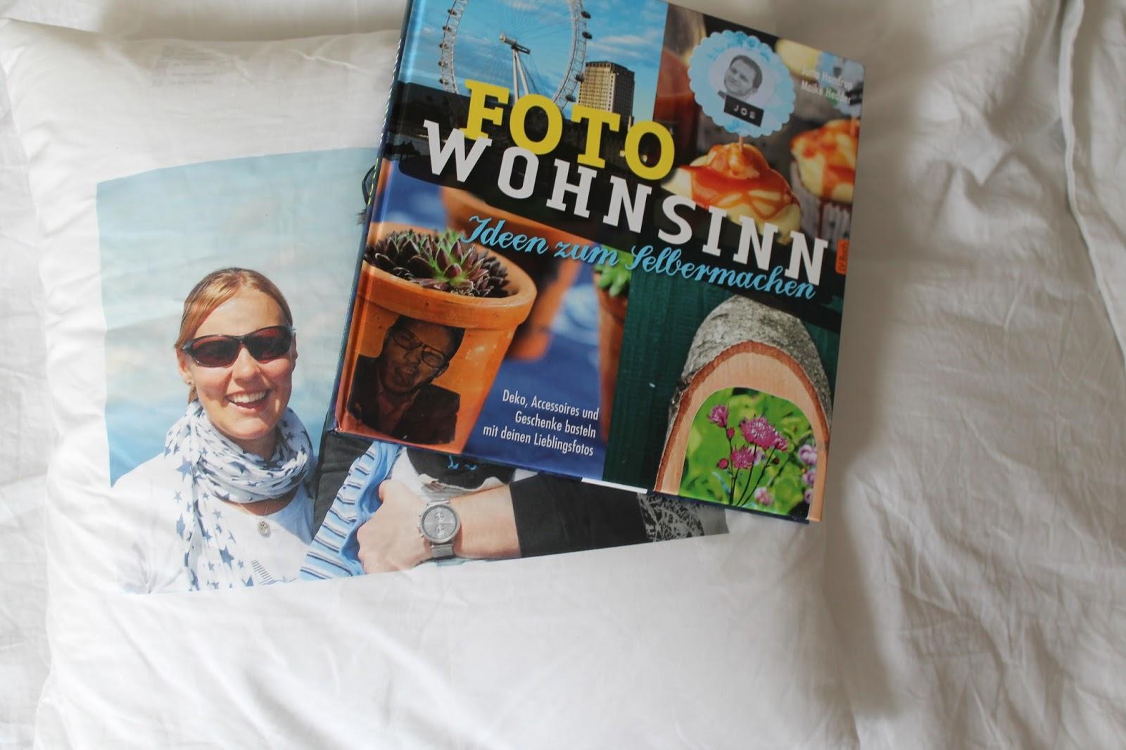 Fotokissen und Buch Foto Wohnsinn