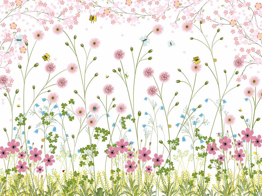 En attendant.: Le champ de fleurs