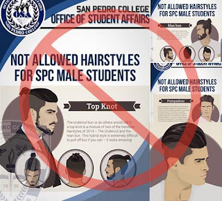 San Pedro College hairstyle for male students
