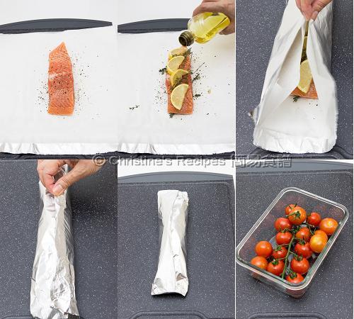 焗紙包三文魚製作圖 Baked Salmon Parcel Procedures