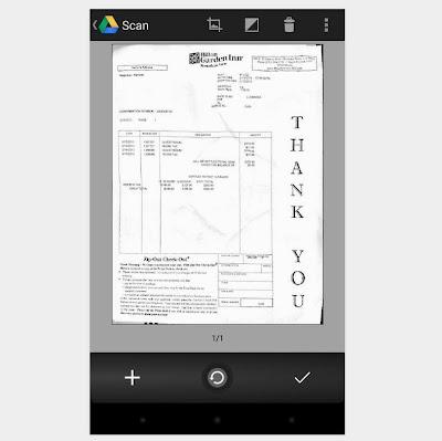 archivo escaneado con google Drive usando la camara