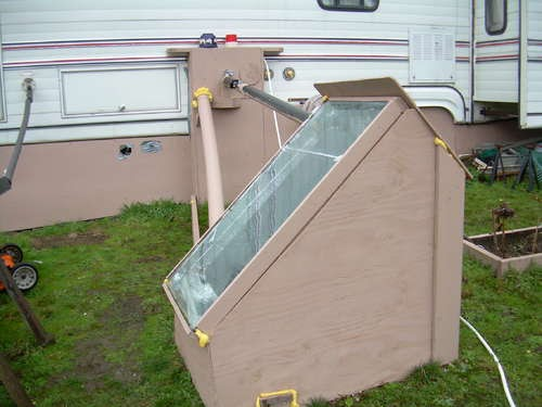 how to make a solar hot water heater