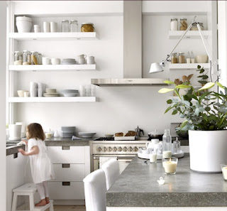 Open shelving kithens