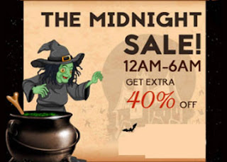 Midnight Sale : Flat 40% off from 12AM to 6AM on every thing