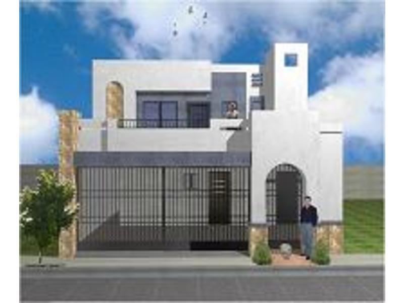 Fachadas de casas modernas fachada de casa moderna colonial for Casas con terraza al frente