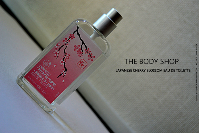 TBS Body Shop Japanese Cherry Blossom Eau De Toilette EDT Spray Fragrance Perfume Women Blog Reviews