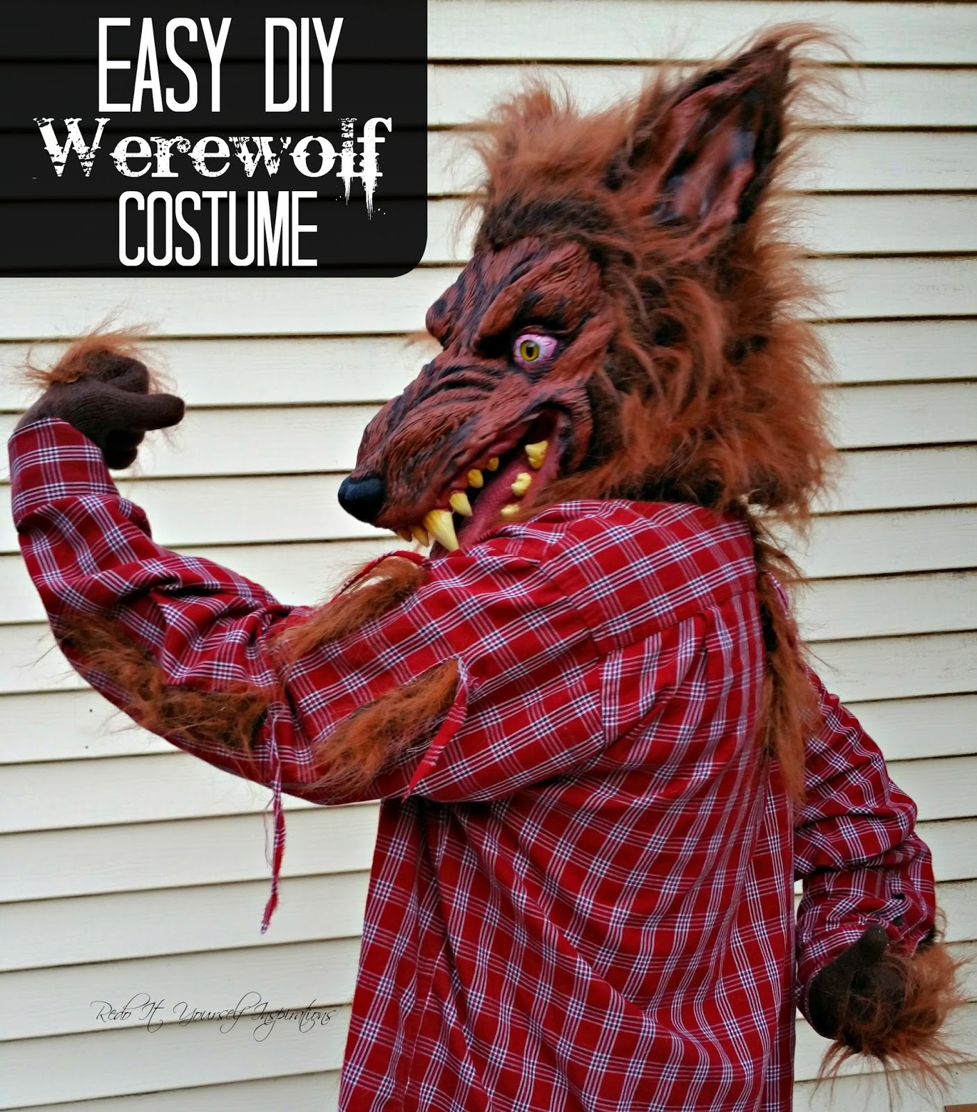 Easy diy werewolf costume redo it yourself inspirations easy diy and solutioingenieria Choice Image