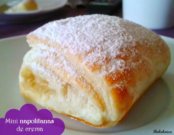 Mini napolitanas de crema pastelera