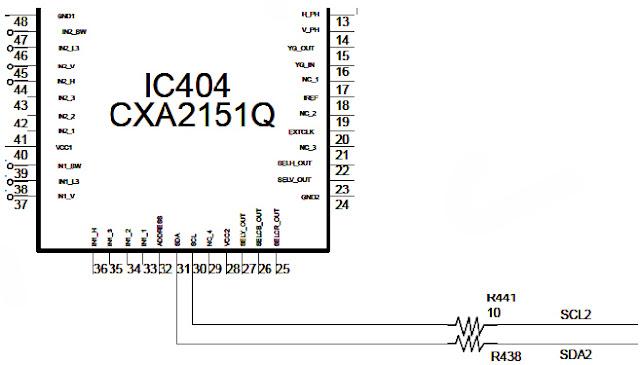 Hình 19 - CPU điều khiển IC chuyển mạch thông qua hai bus SDA2 và SCL2