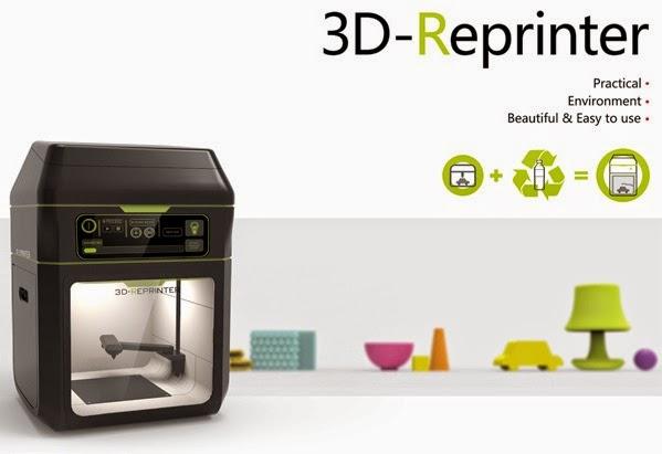 3D-reprinter, uma impressora 3D que usa materiais recicláveis