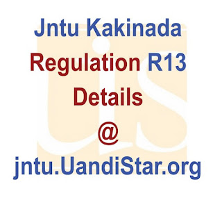Jntu Kakinada R13 Regulation Info