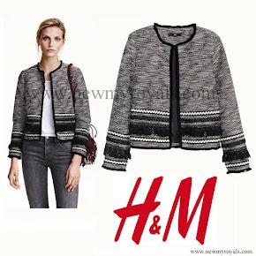 Crown Princess Victoria Style H&M Fringed jacket