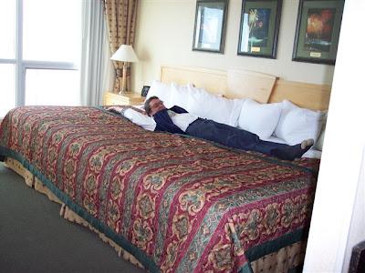 Queen Size Bed Top Sideways View