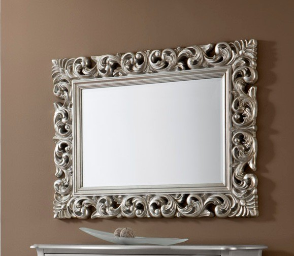 Ideas para redecorar tu hogar espejo con marco plateado for Espejo vintage plateado