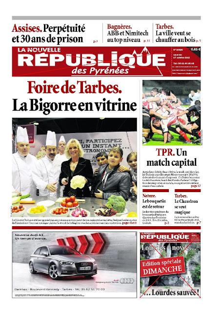 Nouvelle République des Pyrénées du samedi 27 octobre 2012