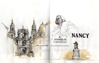 alexandre bochard alex bochard croquis carnet voyage Nancy