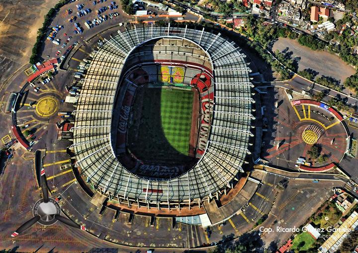 Ahora s estadio azteca el coloso de santa rsula for Puerta 1 estadio azteca