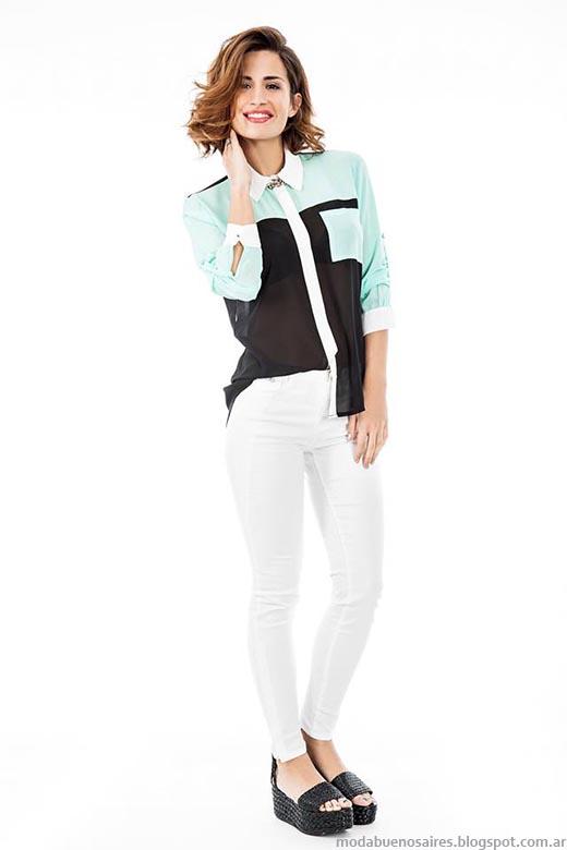 Moda primavera verano 2015 camisas de mujer Activity.