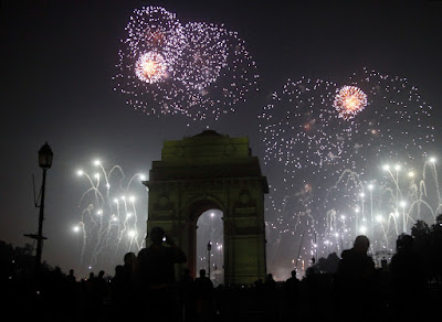 Happy New Year 2016 eve in Delhi Photos & Images