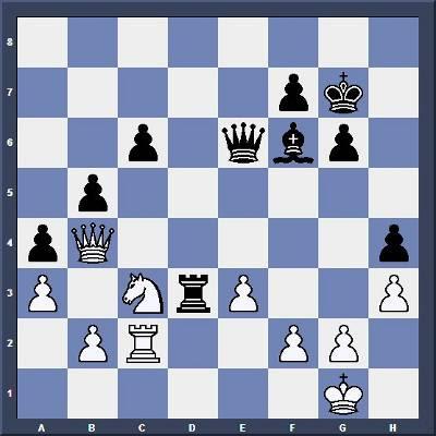 Echec & Stratégie : Les Noirs jouent et gagnent en 6 coups