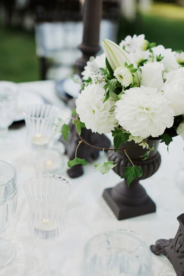 Wedding stuff ideas black and white centerpieces