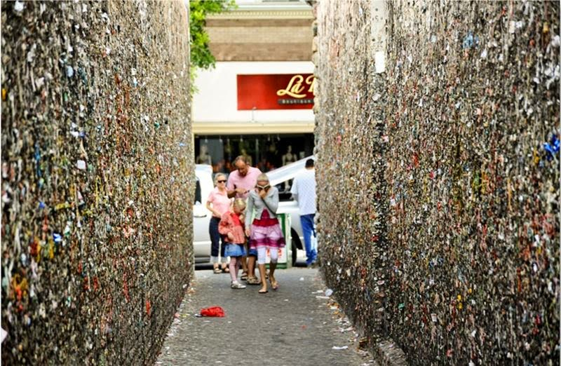 Chewed Bubblegum Graffiti | Bubblegum Alley, California