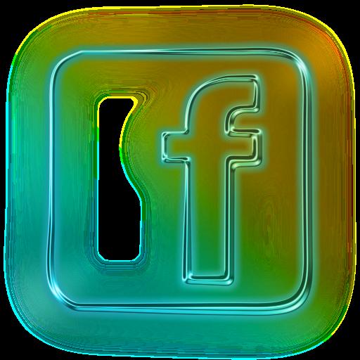 facebook logo square neon webtreatsetc