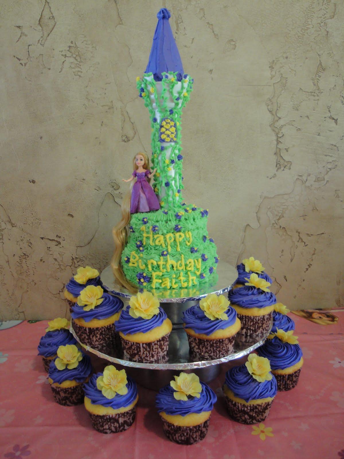 Chick A Do Tangled Birthday Cake