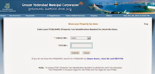Pay GHMC Property Tax Online
