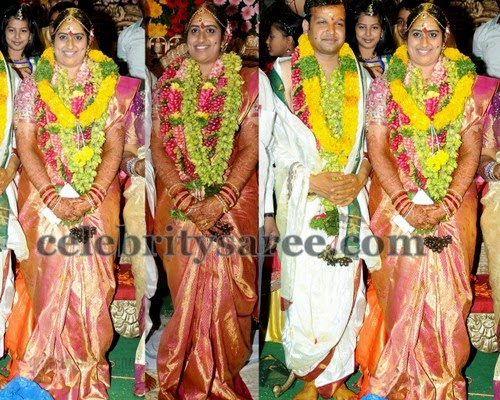 Kavitha Daughter Wedding Saree
