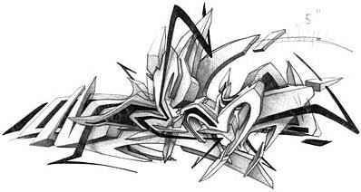 6 Amazing 3d Graffiti Sketches Designs Ideas