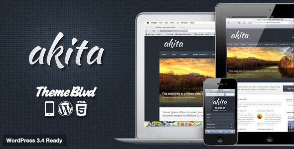 Akita WordPress Theme Free Download by ThemeForest.