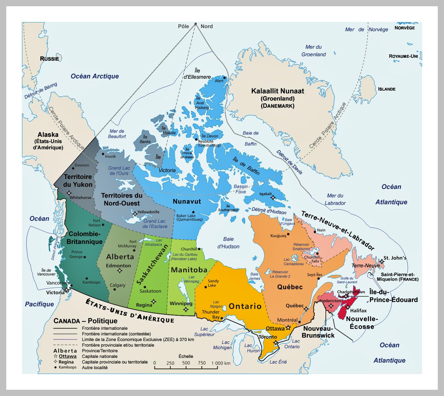 MUTINE NEWSY: CARTE DU QUEBEC, CANADA, VILLE DE MONTREAL