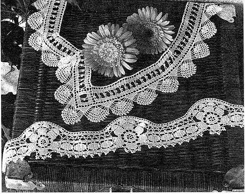 Uncinetto e crochet deliziosi e facili questi due bordi for Schemi bordure uncinetto per lenzuola