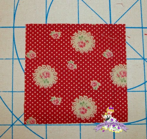 how to cut 10 inch squares from yardage