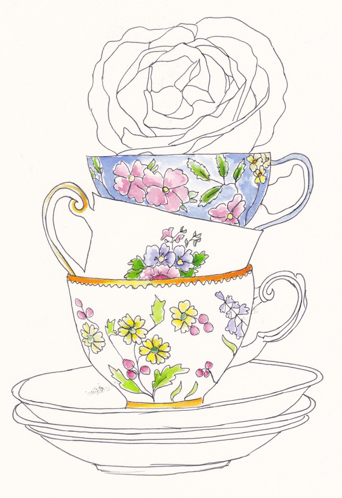 How to Draw Teapots amp Teacups with Simple Steps  How to