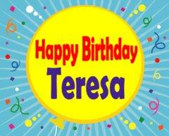 Stitching N Knitting Happy Birthday Teresa