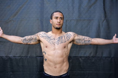 colin photo  colin kaepernick tattoos what do they say
