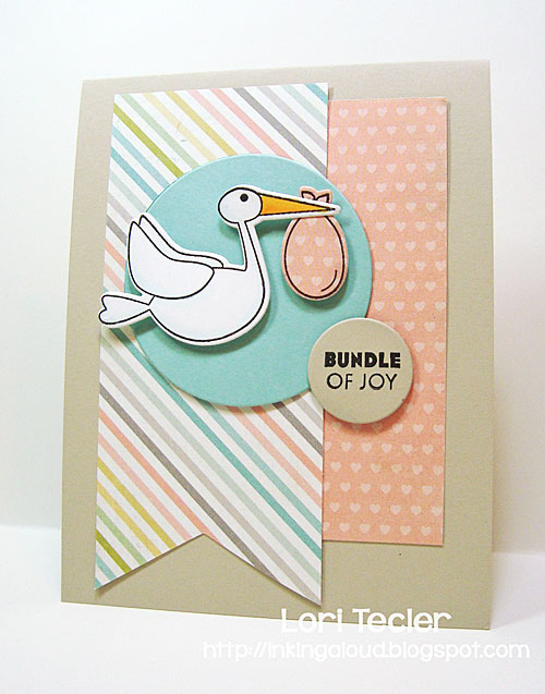 Bundle of Joy card-designed by Lori Tecler/Inking Aloud-stamps and dies from Clear and Simple Stamps