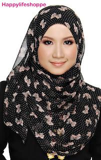 shawl riben ringan tak perlu iron