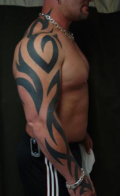 Tribal Arm Sleeve Tattoos for Men